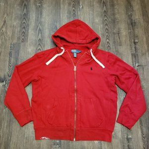 POLO RALPH LAUREN HOODIE SWEATER FIRE RED LARGE